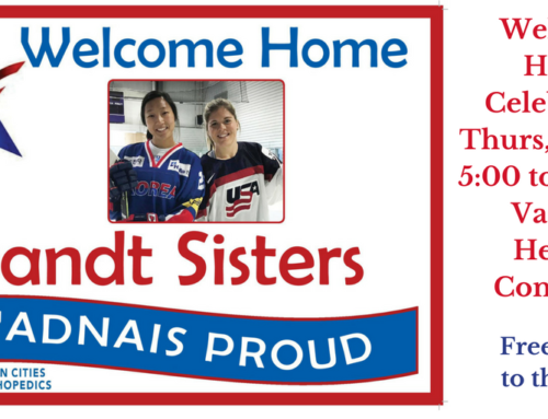 Vadnais Heights Community Welcomes Olympians Hannah and Marissa Brandt Home with Local Celebration